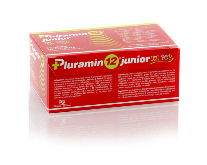 PLURAMIN 12 JUNIOR ICE POPSOLUTION FOR ORAL USE